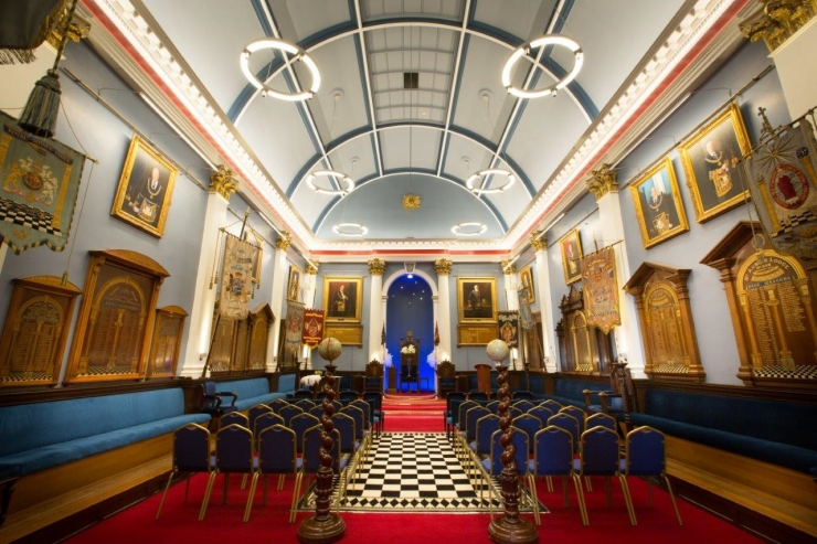 An historic day as Jersey's Masonic Temple holds its first