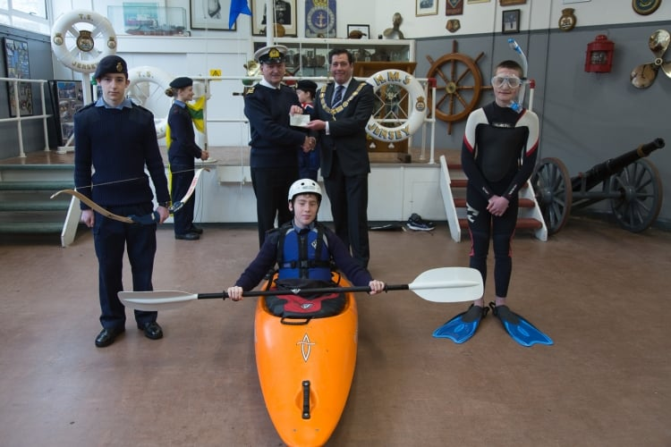 Jersey Sea Cadets receive £10,000 from Provincial Grand Lodge of Jersey