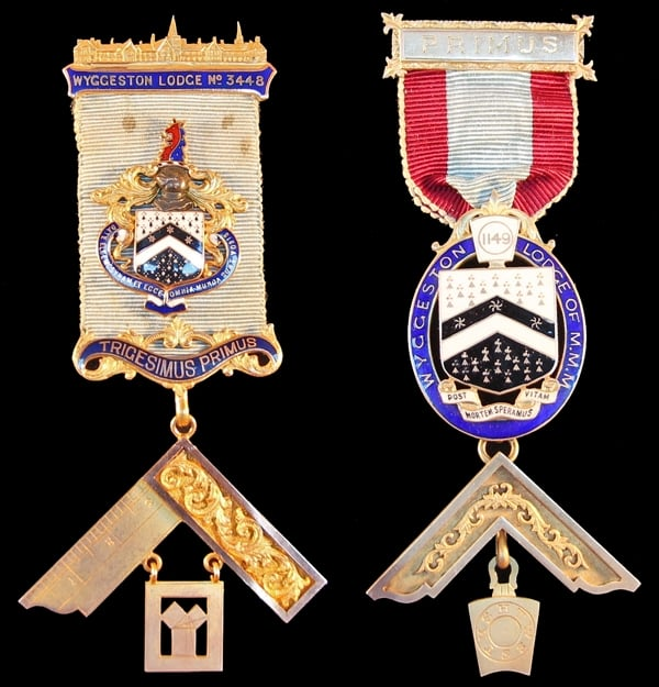 Past Master's jewels reunited with their Leicestershire lodges