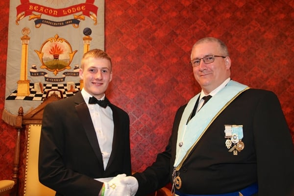 Beacon Lodge in Loughborough welcomes 18 year old Freemason