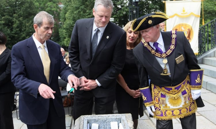 Boston time capsule returned to 1795 burial place in masonic ceremony