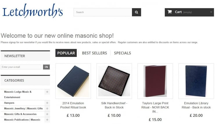 New website for Letchworth's Shop!