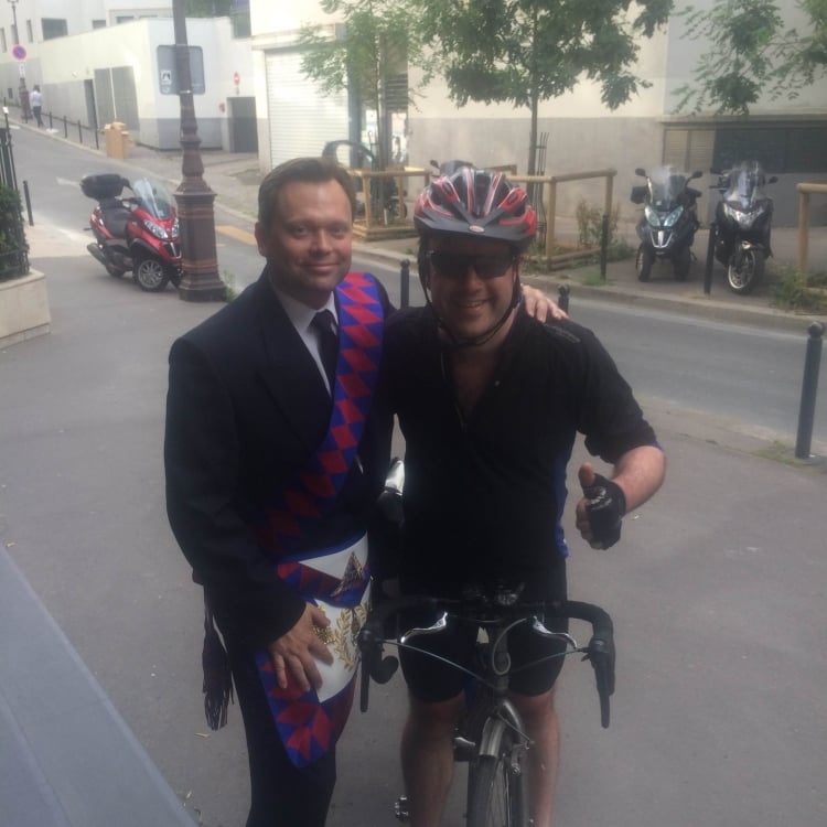 Paddy Belton cycles from London to Paris with love