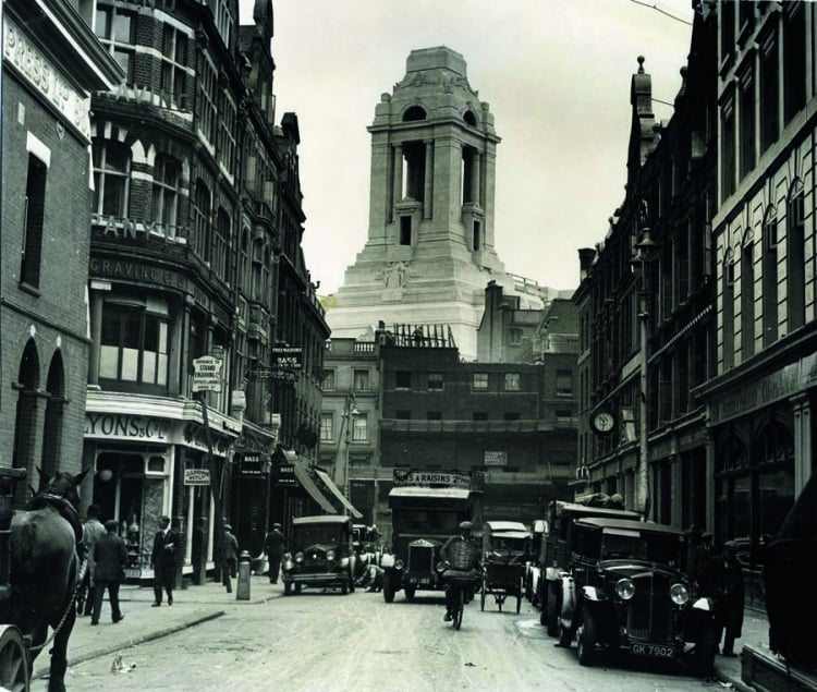 The origins of Freemasons' Hall as a memorial to the fallen