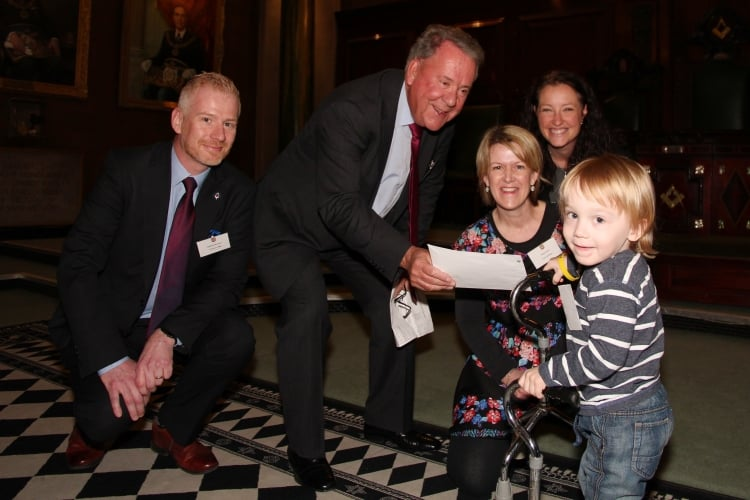 Junior's life will be transformed by donation from Leicestershire and Rutland Freemasons