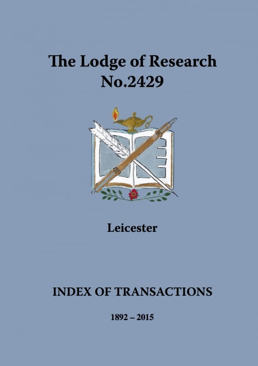 Lodge of Research publishes full index of transactions from 1892 to present