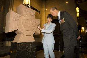 UGLE's Grand Master, The Duke of Kent, unveils Victoria Cross Remembrance Stone at Freemasons' Hall